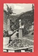 """C.P.S.M. Petit Format  (06 ) """" LIBRE,par BREIL-sur-ROYA"""" Maquette De La Statue N.D.de Lourdes X 2 Phot. - Breil-sur-Roya"""