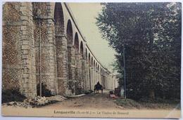 Longueville (S.-et-M.) - Le Viaduc De Besnard - CPA Toilée - France