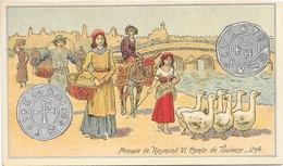 Monnaie De Raymond VI Comte De Toulouse 1194 - Mini Carte Lithographie, Non Circulée - Monete (rappresentazioni)