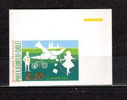 FRANCE  N° 2690a   NON DENTELE  NEUF SANS CHARNIERE  COTE 15.00€   EXPOSITION PHILATELIQUE - Imperforates
