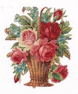 Joli Découpi Fin XIXe Siècle, Bouquet De Fleurs - Fleurs