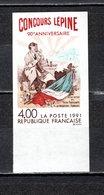 FRANCE  N° 2694a   NON DENTELE  NEUF SANS CHARNIERE  COTE 15.00€  CONCOURS LEPINE - Imperforates