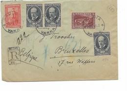 SH 0354. N° 164-166(3)-172 VARNA 16.V. S/Lettre RECOMMANDEE Vers Bruxelles. TB - 1909-45 Regno