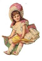 Joli Découpi Fin XIXe Siècle, Petite Fille - Enfants