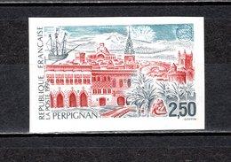 FRANCE  N° 2698a   NON DENTELE  NEUF SANS CHARNIERE  COTE 15.00€   PERPIGNAN MONUMENT - Imperforates