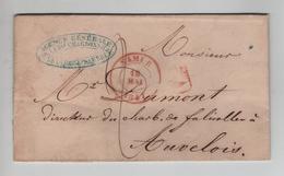 CBPN165/ Précurseur LAC De Namur Charbonnages Basse-Sambre C.18/5/1847 > Auvelais C.darrivée SPY Type 18 - 1830-1849 (Belgio Indipendente)