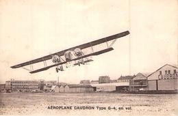 C P A AEROPLANE CAUDRON TYPE G 4 EN VOL SUR AERODROME - 1919-1938: Entre Guerres