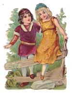 Joli Découpi Fin XIXe Siècle, Couple D'enfants - Enfants