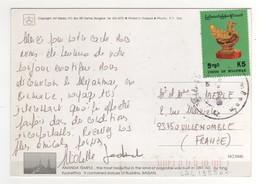 """Beau Timbre , Stamp  Archéologie """" Objet D'art """" Sur Cp , Carte , Postcard - Myanmar (Birmanie 1948-...)"""