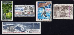 TAAF 1998 - Neufs MNH ** - Yvert PA 146 147 148 149 150 Ranunculus Moseleyi Station Radio-météo Manchots Argos Forage... - Airmail