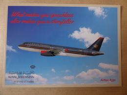 AIRLINE ISSUE / CARTE COMPAGNIE    ROYAL JORDANIAN  AIRBUS A 320 - 1946-....: Era Moderna