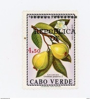 Cap Vert-Cabo Verde-1976-Fruit-Timbre Surchargé***MNH - Cap Vert