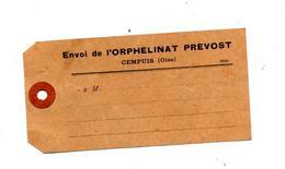 Etiquette Envoi Orphelinat Prevost Cempuis - Other