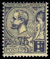 Principato Di Monaco - 75 Su 1 F. Nero Su Giallo - 1924 - Monaco