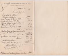 BROU GABRIEL CHENARD FREVILLE LICENCIE EN DROIT NOTAIRE ANNEE 1898 - Francia