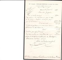 BROU GABRIEL CHENARD FREVILLE LICENCIE EN DROIT NOTAIRE ANNEE 1899 - Francia