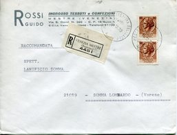 Italia (1970) - Raccomandata Da Mestre (VE) - 1946-.. République