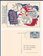 Anti-tuberculeux Noël Légendes Folklore   1082-1088  Cachet 1er Jour La Louvière 1958 Sur Carte Sauvez-nous Tuberculeux - Belgique