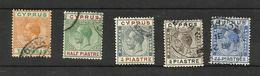 Chypre N°56, 57, 84, 88, 94 Cote 3.75 Euros - Gebraucht