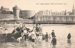 35 Saint Malo Mare Aux Canetons Cpa Carte Animée - Saint Malo