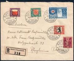 SVIZZERA BUSTA CON SERIE PRO JUVENTUTE 1928 DA ZURIGO PER PFORZHEIM GERMANIA 5.3.1929 - CATALOGO MICHEL 229/232 - Storia Postale