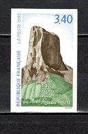 FRANCE  N° 27562a   NON DENTELE  NEUF SANS CHARNIERE  COTE 20.00€   MONT AIGUILLE - Imperforates
