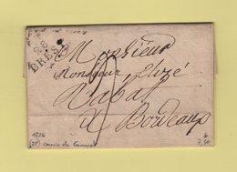 Brest - 28 - Finistere - 1826 - Courrier De Camaret - Marcophilie (Lettres)