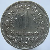LaZooRo: Germany 1 Mark 1934 D XF / UNC - [ 4] 1933-1945 : Troisième Reich