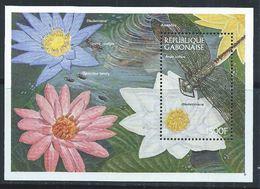 Gabon YT Bloc 83 XX / MNH Fleur Flower Flore Flora Libellule Animal Wildlife - Gabon (1960-...)
