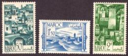 Maroc 1947 - Vues De La Ville. Cond. - MNH- 50c / 1.50F / 2F - Neufs
