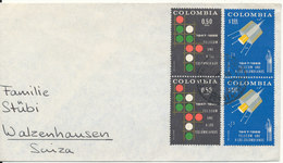 Colombia Cover Sent To Switzerland 1968 - Colombia