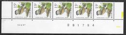 Buzin. 2732xx Matkop/Mésange Boréale. Datumstrook 19/02/97 Bande Datée. Diepdrukplaat Nr B81784 - Paar/pair - 1985-.. Birds (Buzin)