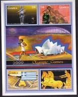 Gambia 2000 / Olympic Games Sydney / Athletics, Basketball, Torch, Stadium, Chariot Racing, Horses / Mi 3584-3588 - Ete 2000: Sydney
