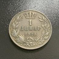 JUGOSLAVIA - 1925 - Moneta 1 DINARO , Ottima - Joegoslavië