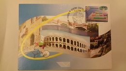Italia Fdc Maximum Card 1999 Verso I Mondiali Di Ciclismo Su Strada Verona. - Cartes-Maximum (CM)