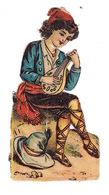 Joli Découpi Fin XIXe Siècle, Musicien - Enfants