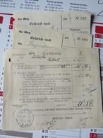 Cachet METZ  TELEGR.AMT  3-4N  Sur Enveloppe écrite En Allemand, Contenant Papiers - Marcophilie (Lettres)
