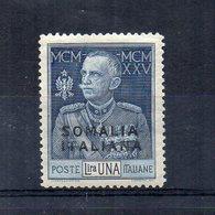 Italia - Regno - Colonie E Possedimenti - 1925/26 - SOMALIA ITALIANA - Giubileo Del Re - 1 Lira - Nuovo * - (FDC20308) - Somalia