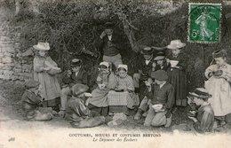 Bretagne-coutumes Moeurs Et Costumes Bretons-le Dejeuner Des Ecoliers - Bretagne