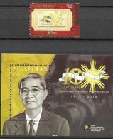 PHILIPPINES, 2019, MNH, ART, CINEMA, 100 YEARS OF PHILIPPINE CINEMA, 1v+S/SHEET - Cinema