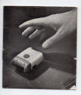 Mode D'emploi RASOIR THOMSON  Et Son Certificat De Garantie 1955 (PPP21763) - Advertising