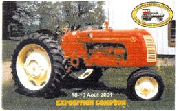 Antique Tractor - 10 X 6 Cm - Advertizement Antique Machinery - Machines D'Antan Estrie - 2 Scans - Other
