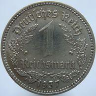 LaZooRo: Germany 1 Mark 1937 A XF / UNC - [ 4] 1933-1945 : Tercer Reich