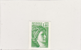 France - Roulettes - Type Sabine - 1981 - N°YT 2157a** - Rollen