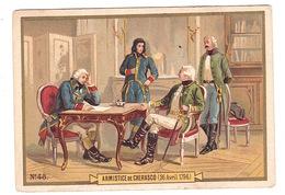 Jolie Chromo Non Publicitaire Belle Époque, Armistice De Cherasco, 1796, N°48 - Chromos