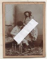 2 PHOTOS Pornographiques  + Photo  Gay Collé Sur Carton Recto Et Verso  Epoque 1900 - Nus Adultes (< 1960)