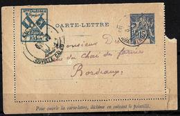 894 - FRANCE - COLONIES - NOUVELLE CALEDONIE - 1899 - MILITAR POST CARD - TO CHECK - Briefmarken