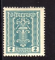 AUSTRIA ÖSTERREICH 1921 LABOR AND INDUSTRY LAVORO E INDUSTRIA 2K MH - Nuovi
