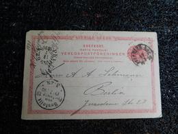 Entiers Postaux, Suède, 1890, H. J. Heyman & Co.  (C3) - Entiers Postaux