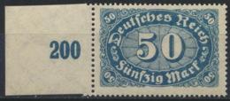 Deutsches Reich 246b Seitenrand ** Postfrisch Geprüft Infla - Deutschland